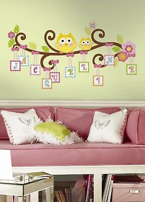 Scroll Tree Letter Branch Peel and Stick Giant Wall Decal Free shipping