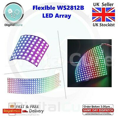 8x8 8x32 16x16 Neopixel WS2812B 5050 Flexible LED Array - Adafruit Arduino Pi