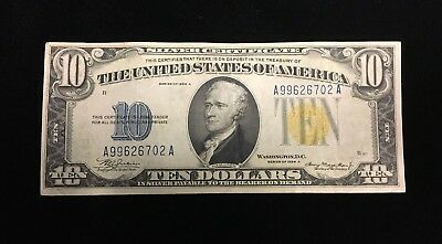 1934-A North Africa $10 Emergency Issue Small Size Silver Certificate Bill Note!
