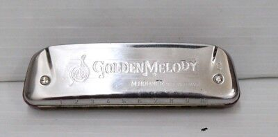 """M.HOHNER Golden Melody Harmonica No.542 Made in Germany Key of """"C"""" w/ Case"""