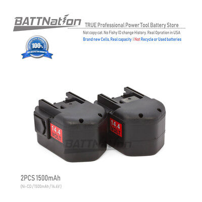 2 x 14.4V 14.4 VOLT Battery for MILWAUKEE 48-11-1000 48-11-1014 48-11-1024 Tool