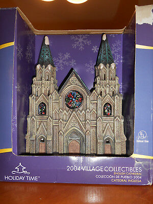FINAL SALE BEFORE REMOVAL - ENGLISH CATHEDRAL - Porcelain Lighted Village