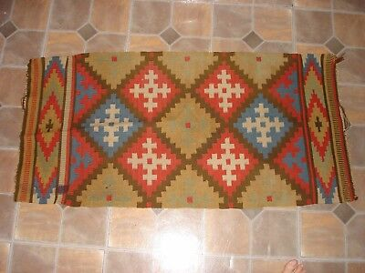 "Native American Indian Wool Rug 44"" X 22"""