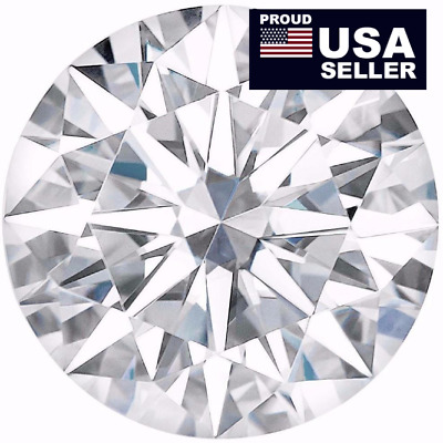 Round Moissanite white E-F,1 to 5 Carat, 100% Genuine, Loose Moissanite diamond