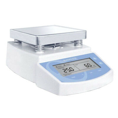 220V Digital Hot Plate Magnetic Stirrer Lab Mixer with LCD Display 1250RPM 2L