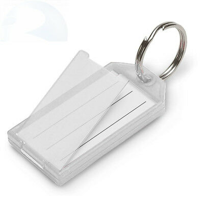 Lucky Line Key Tag with Flap and Split Ring, 10-Pack, Clear (6051010)