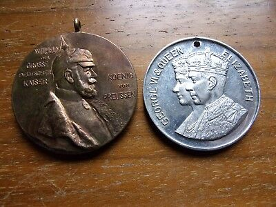 Germany Medal 1897 Wilhelm,king George 1937 Queen Elizabeth Medals Free Shipping