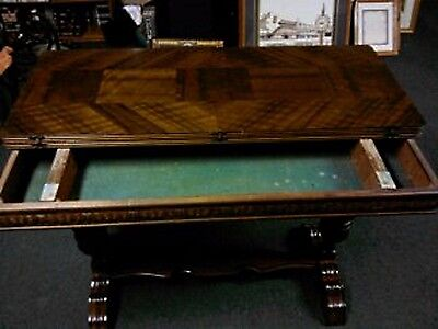 Antique 1920's Secret Prohibition Table Held Alcohol & Gambling Items