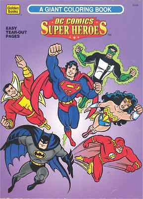 Vintage 1996 Dc Comics Super Heroes Giant Coloring Book By Golden