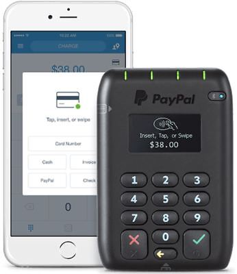 PayPal Here EMV Contactless POS, Chip and PIN, Swipe, Bluetooth Card Reader