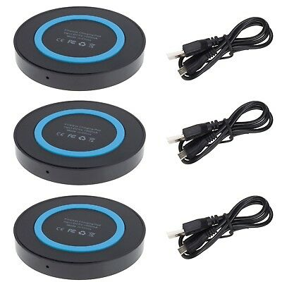 3Pack QI Wireless Charging Charger Pad Mat Portable Dock For iPhone X 10 8 Plus