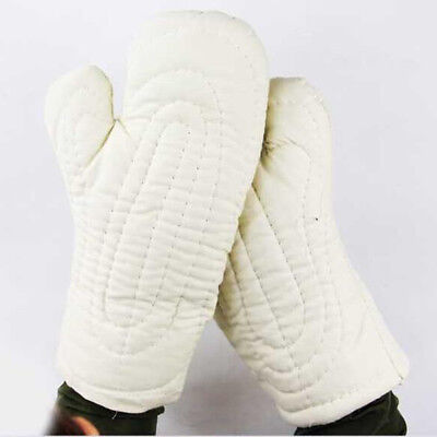 35cm Welding Protective Gloves Labor Safety Hand Gloves Working Gloves-White