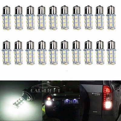 20x 12V Car RV Trailer White 1156 BA15S 5050 18smd LED Light Bulb 7503 1141 1073
