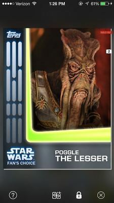 Topps Star Wars Card Trader Digital Fan's Choice Poggle The Lesser