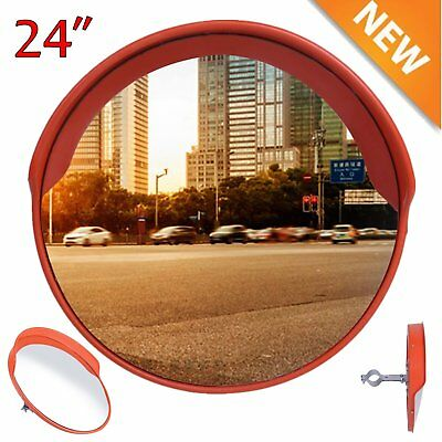 """24"""" Outdoor Road Traffic Convex PC Mirror Wide Angle Driveway Safety &Security G"""