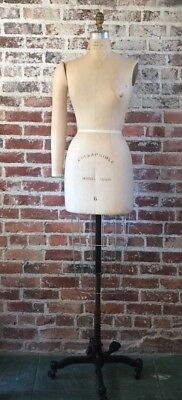 Vintage WOLF DRESS FORM Cage Collapsible MANNEQUINS  #1990 1940's W Rollers