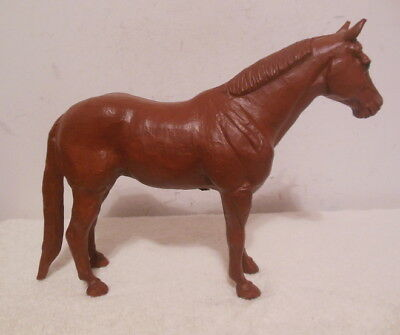 RED MILL HORSE FIGURE made of CRUSHED PECAN SHELLS VERY NICE!