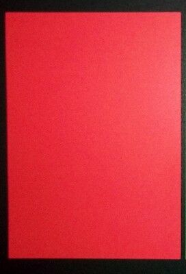 A4 COLOURED PAPER x 20  -  BRIGHT RED - Cardmaking/Scrapbooking/Papercrafts
