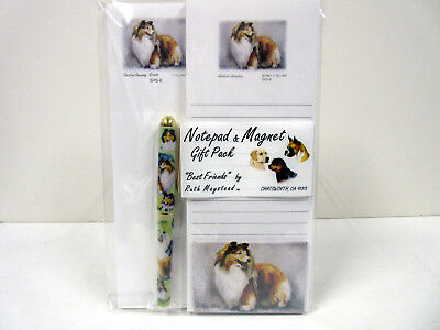 Sheltie Shetland Sheepdog List Pad Note Pad Magnet Pen Stationery Gift Pack SHS6