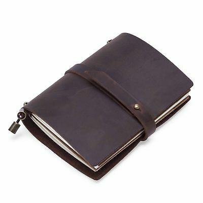 New Retro Classic Vintage Leather Blank Diary Journal Sketchbook Notebook