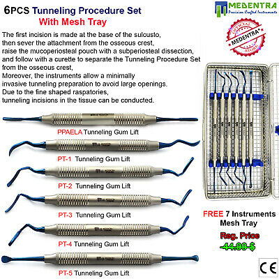 Implant Mauri Tunnelling Procedure Kit Sub Periosteal Root Coverage Tools+Tray