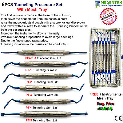 Implant Tunnelling Procedure Kit Sub Periosteal Root Coverage Tools+Tray