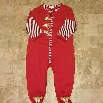 New With Tags Le Top Christmas footed one piece unisex size 9 months