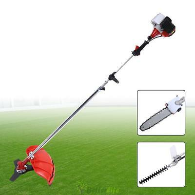 Garden Hedge Trimmer 5 in 1 Petrol Strimmer Chainsaw Brushcutter Multi Tools