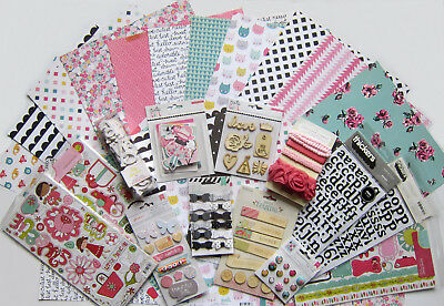 New Line!  Crate Paper [CUTE GIRL] 12 X 12 Paper & Embellishment Set   Save 55%