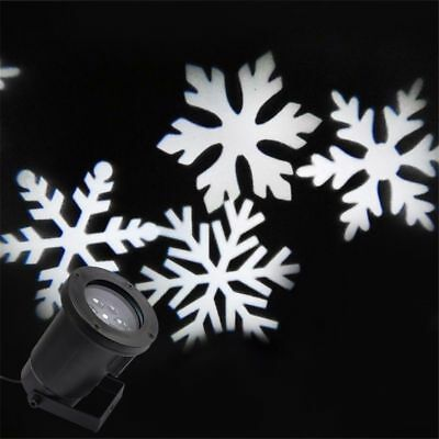 Christmas LED Snow Laser Projector Lamp Landscape Snow Light Xmas For Outdoor