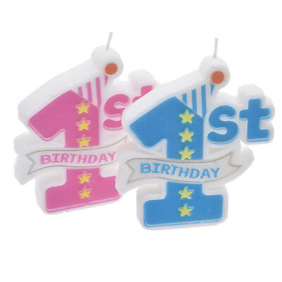 1st Birthday Party Candles Cake Topper Decoration Baby First Anniversary Supply