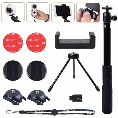 Adhesive Quick Tripod Stand &Selfie Solution Kit For Samsung Gear 360,2017 CAMS