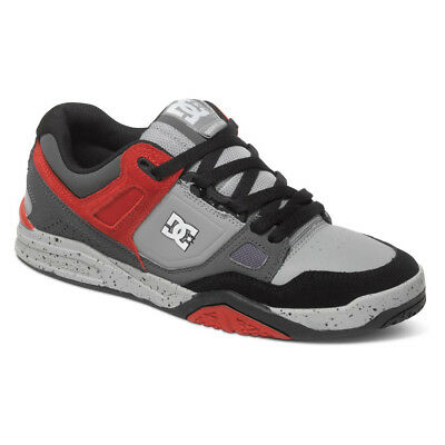 DC Shoes Men's Stag 2 Skate Shoes Grey/Red 100223