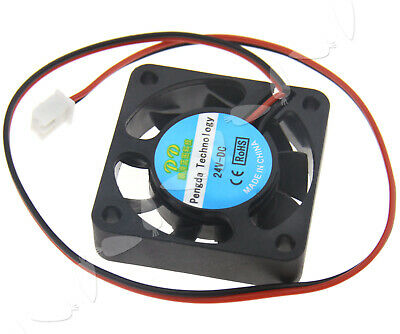 2 Pin Extruder Brushless Cooling Fan 24V 40mm For 3D Printer RepRap Mendel Prusa