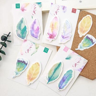 1 pcs Feather Notes.Sticker Bookmark Lovely Cartoon Memo Flags Stick Marker