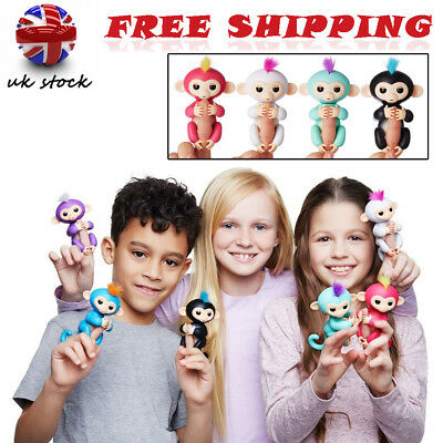 Fingerlings Baby Monkey Electronic Interactive Finger Pet Toy Robot Kids Gifts