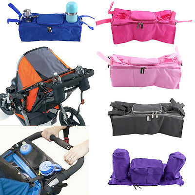 Pram Stroller Pushchair Buggy Holder Storage Bag Cup Bottle Drink Organizer Baby