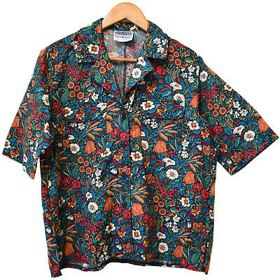 Liberty of London Botanical Print Cotton Shirt Size 14 Georges Laurie McCarthy