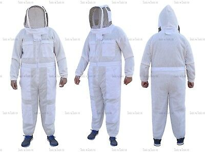 Pro Three Layers Mesh Ultra Beekeeping Suit Bee Suit Ventilated Cool Air Large