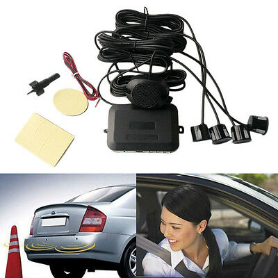 4 Parking Sensors Car Backup Reverse Radar Rearview Buzzer Sound Alarm EW