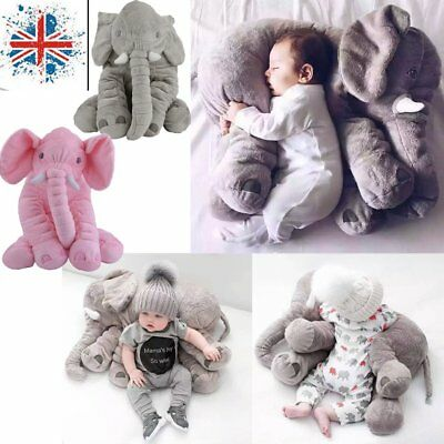 Baby Elephant Lumbar Pillow Long Nose Doll Pillow Soft Plush Stuff Toys