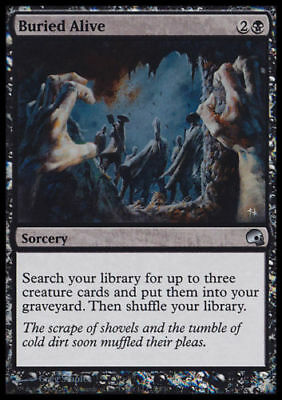 1x FOIL BURIED ALIVE - Rare - Graveborn - MTG - Magic the Gathering