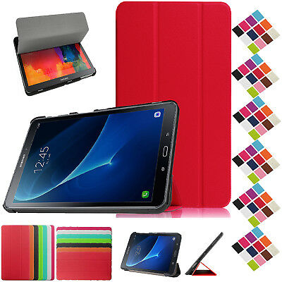 """Smart Leather Book Stand Case Cover For Samsung Galaxy Tab A 10.1"""" SM-T585 T580"""