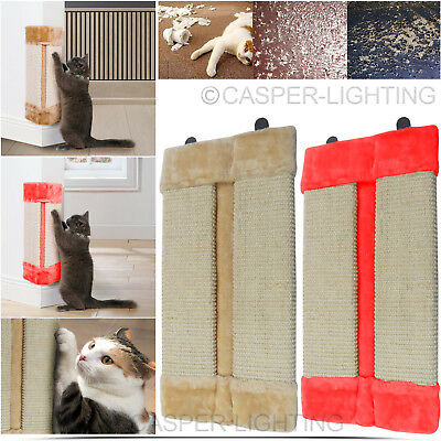 Pet Kitten Corner Sisal Wall Scratcher Cats Hanging Cat Scratching Post Board Uk