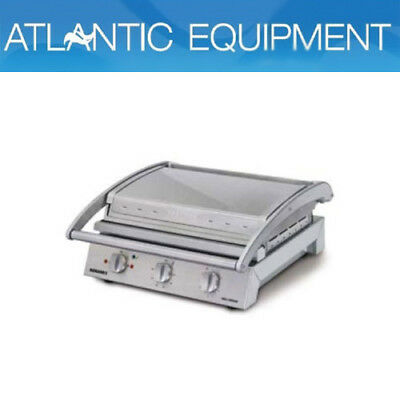 Roband GSA810R Grill Station, 8 slice ribbed top plate