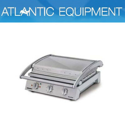 Roband GSA810RT Grill Station, 8 slice ribbed top plate non-stick coated