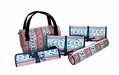 Knitpro Storage Cases for Knitting Needles and Craft Caddy - Design Navy