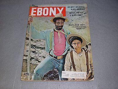 Ebony Magazine April 1971 Bill Cosby The Temptations Black Jesus Black Americana