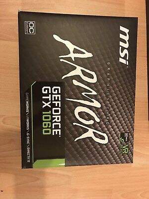 MSI Geforce GTX 1060 Armor graphic card empty box only +  DVD For Packing