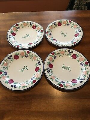 Princess House Orchard Medley Dinner Plates 10 3/4\  D Set ... & Princess House 10\